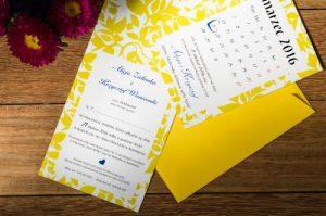 kartka z kalendarza - zaproszenie ślubne